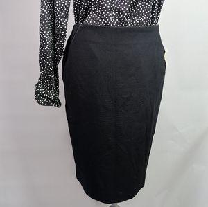 Talbots Outlet black pencil skirt